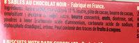 Charles VII craquant chocolat noir 54% - Ingrediënten