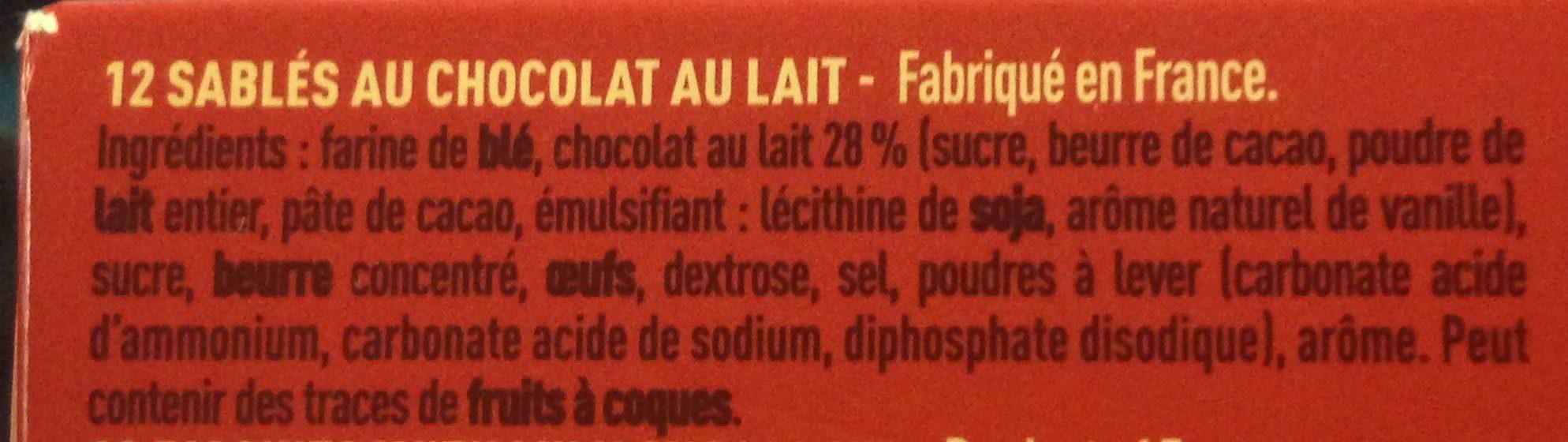 Charles VII Fondant Chocolat au Lait - Ingrédients - fr