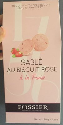 Sablé au biscuit rose - Product - fr