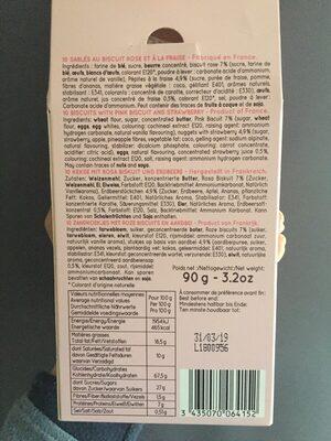 Sablé au biscuit rose - Ingrediënten
