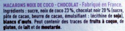 Le Véritable Macaron Coco Chocolat - Ingredients - fr