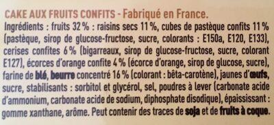 Cake Aux Fruits Confits - Ingredients