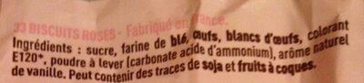 Biscuits Roses de Reims - Ingredients - fr