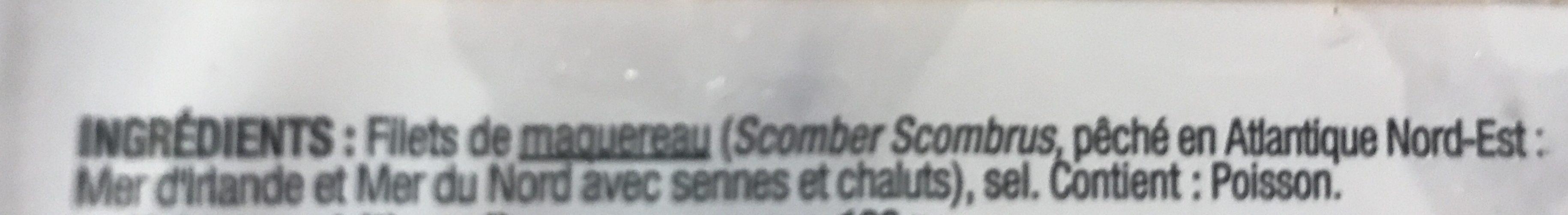 Mon Poisson au quotidien Maquereau fumés au bois de hêtre - Ingredients - fr