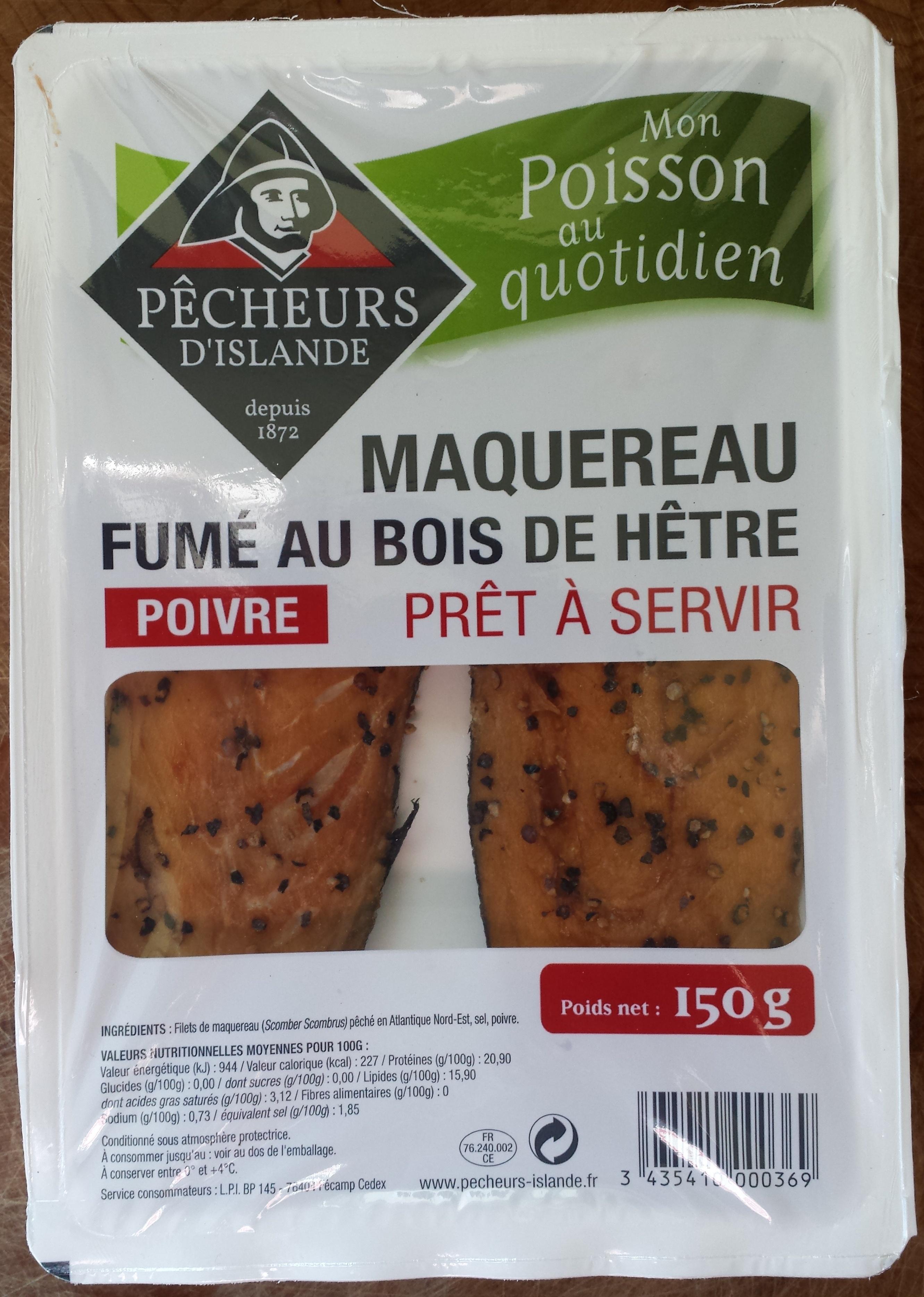 Maquereau Fumé au Bois de Hêtre - Poivre - Product - fr