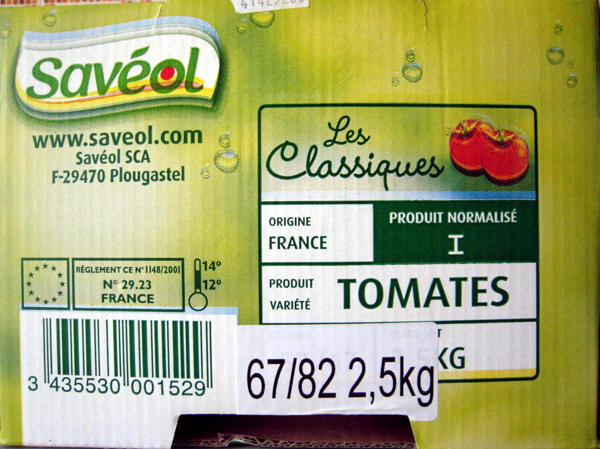 Tomates 2,5 Kg Savéol - Ingrédients