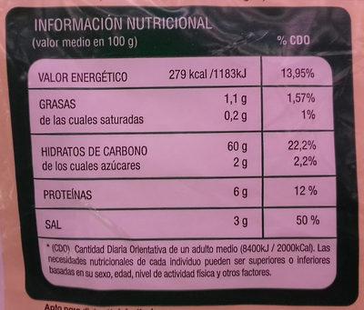 Masa brick para saquitos y rollitos - Voedingswaarden - es