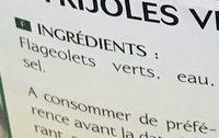 Flageolets verts extra fins - Ingrediënten - fr