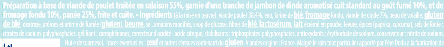 Cordon bleu poulet - Ingrédients - fr