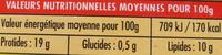 Gastronome hachés de volaille - Informations nutritionnelles