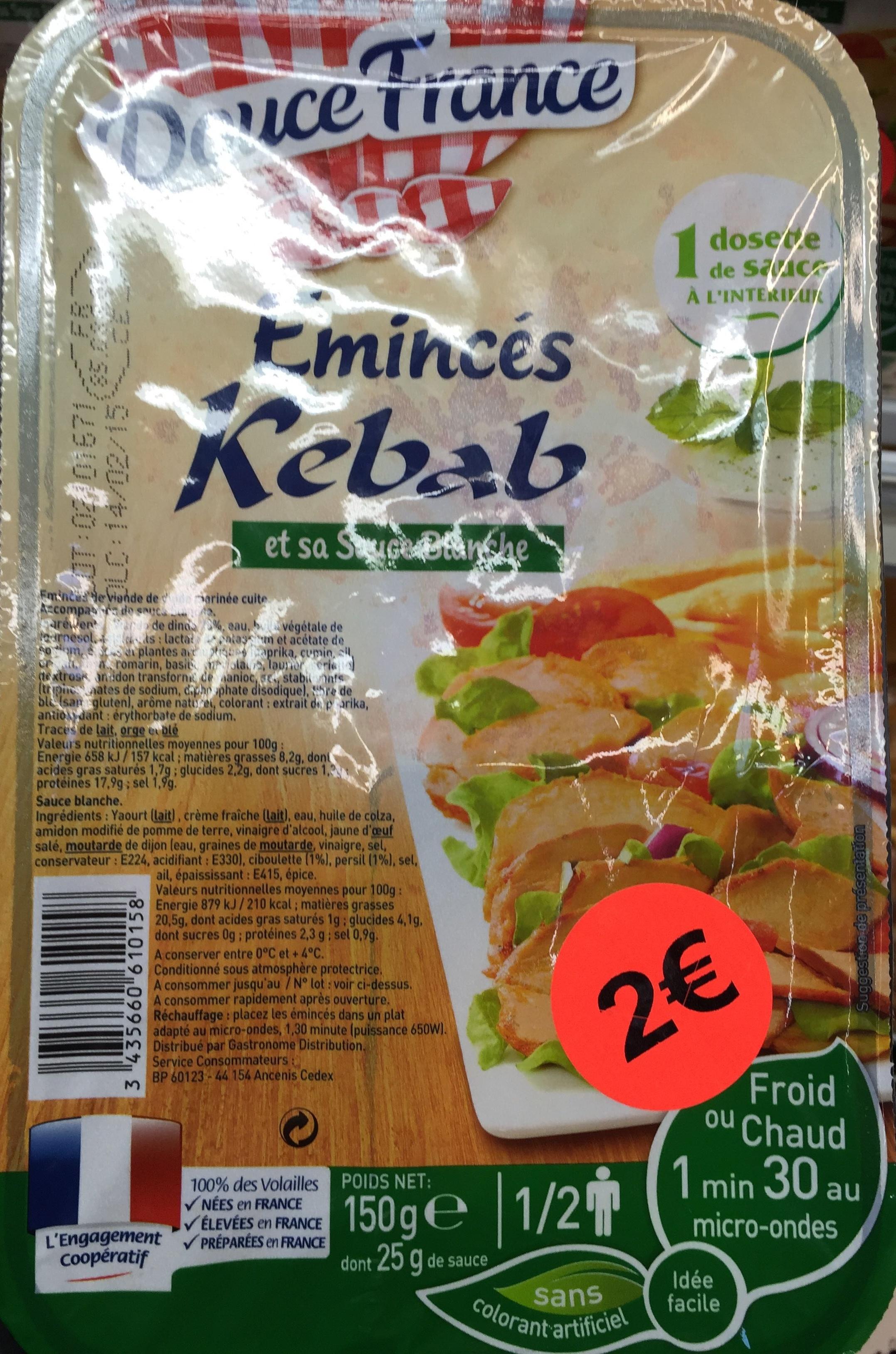 Emincés Kebab et sa sauce blanche - Produit