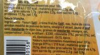 Emincés Kebab et sa sauce blanche - Informations nutritionnelles