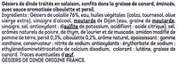 Gésiers émincés confits sauce ciboulette et persil - Ingredienti - fr