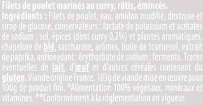 Émincés de filet poulet rôtis curry - Ingredienti - fr