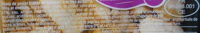 Émincés de Filets de Poulet au curry - Ingrédients