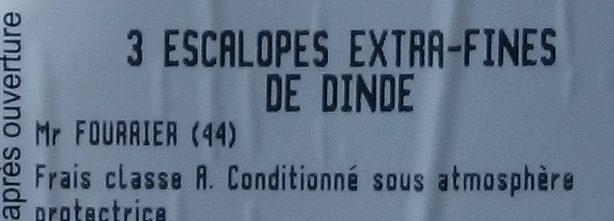 Escalopes Extra Fines - Ingrédients - fr