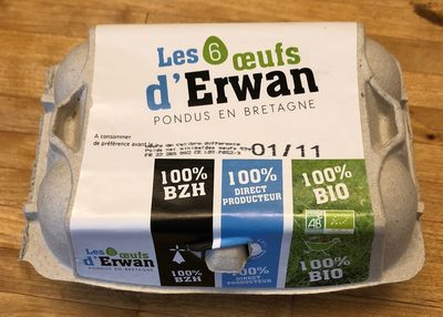 Les 6 œufs d'Erwan - Product - fr