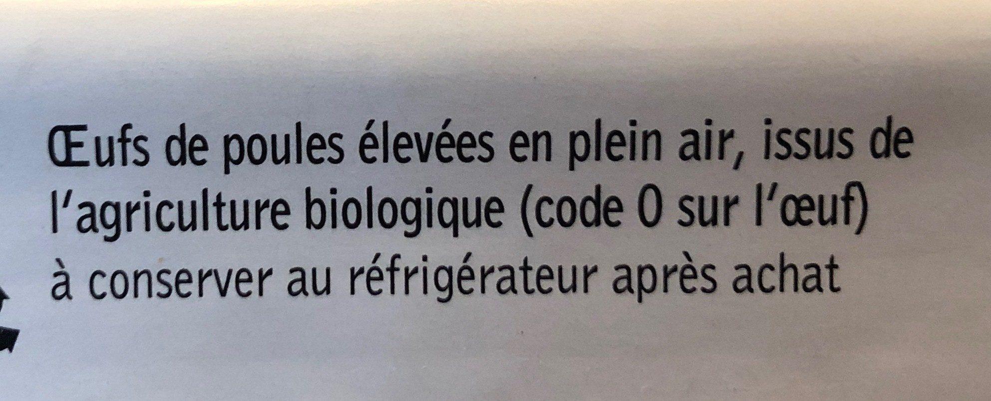 Les 6 œufs d'Erwan - Ingrediënten - fr