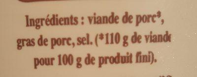 Rillettes à l'ancienne - Ingredients - fr