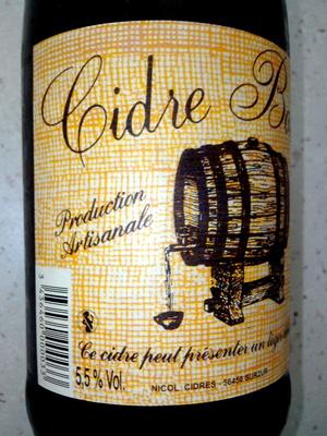 Cidre Bouché - Ingrédients - fr