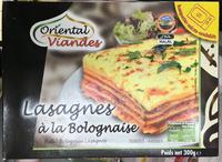 Lasagnes à la bolognaise - Produit