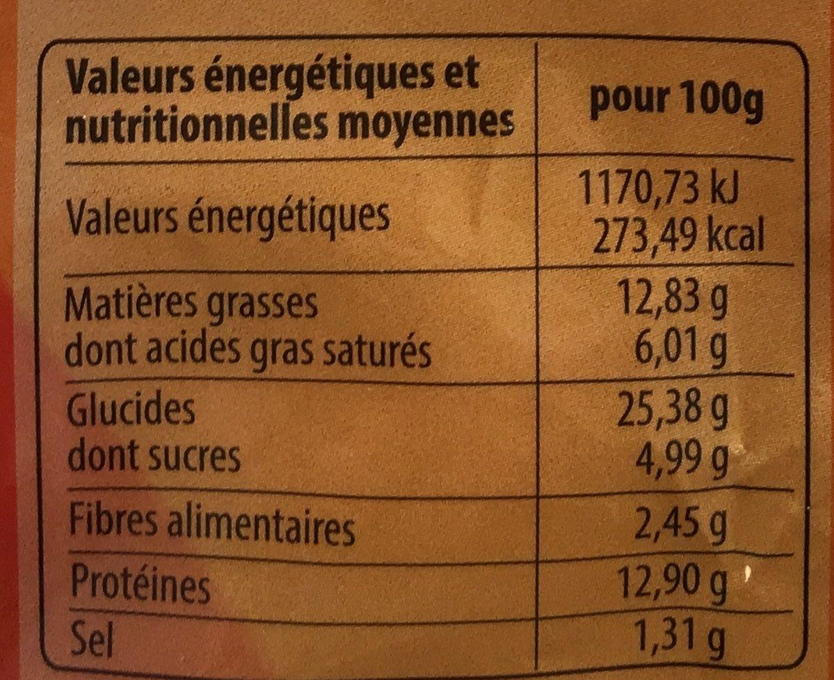 Samouraï Burger - Informations nutritionnelles