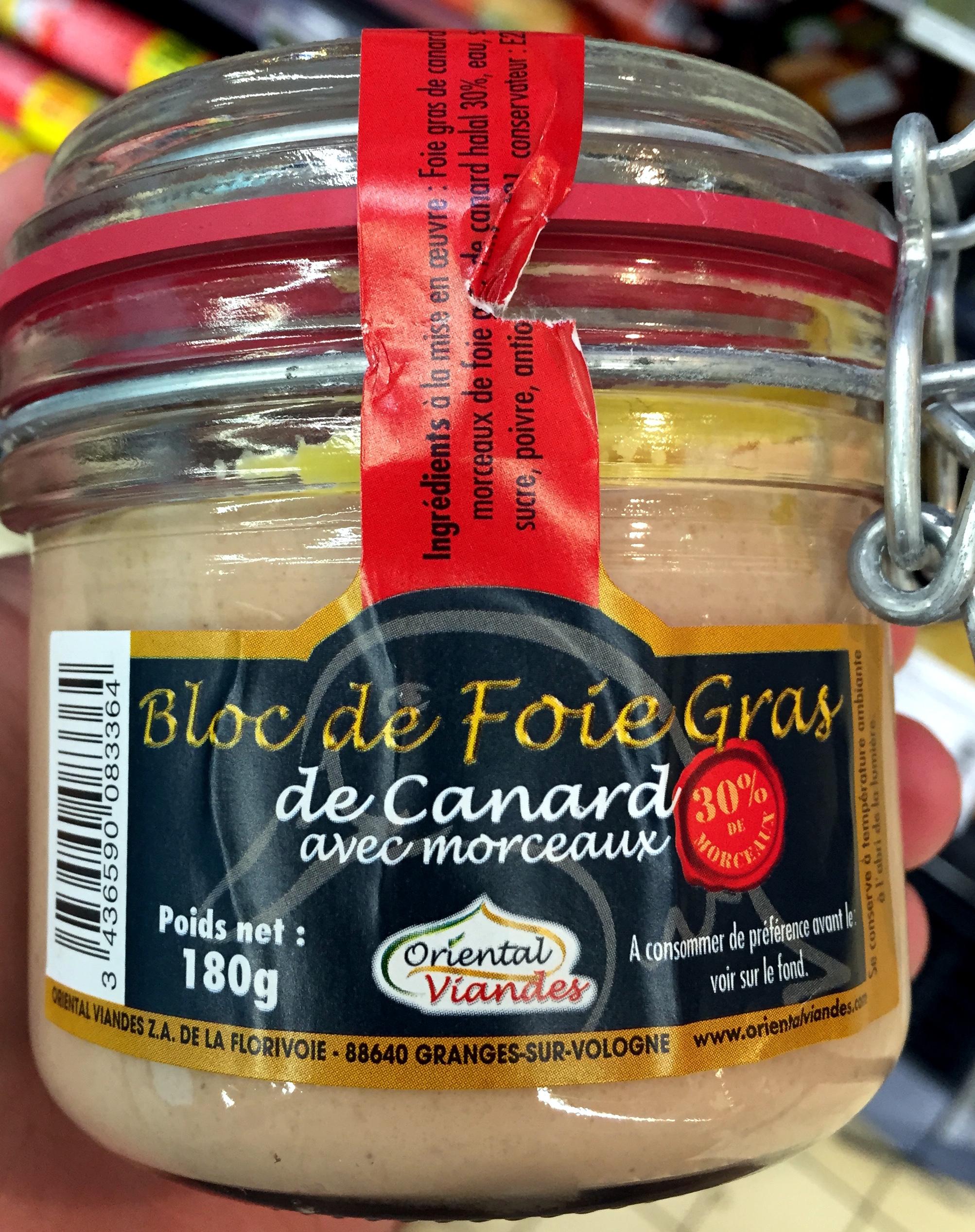 Bloc de Foie Gras de Canard avec morceaux (30%) - Produit - fr