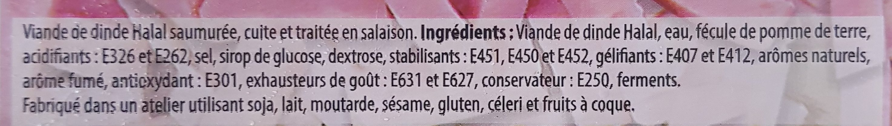 Allumettes de Dinde - Ingrediënten