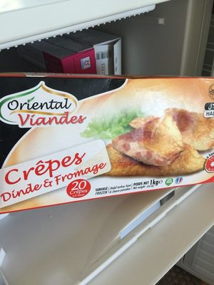 Crepes Dinde Fromage Halal 20 Crepes 1Kg - Toupargel