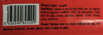 Merguez halal - Ingrédients - fr