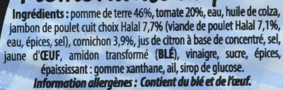 Piémontaise au Poulet - Ingrédients - fr