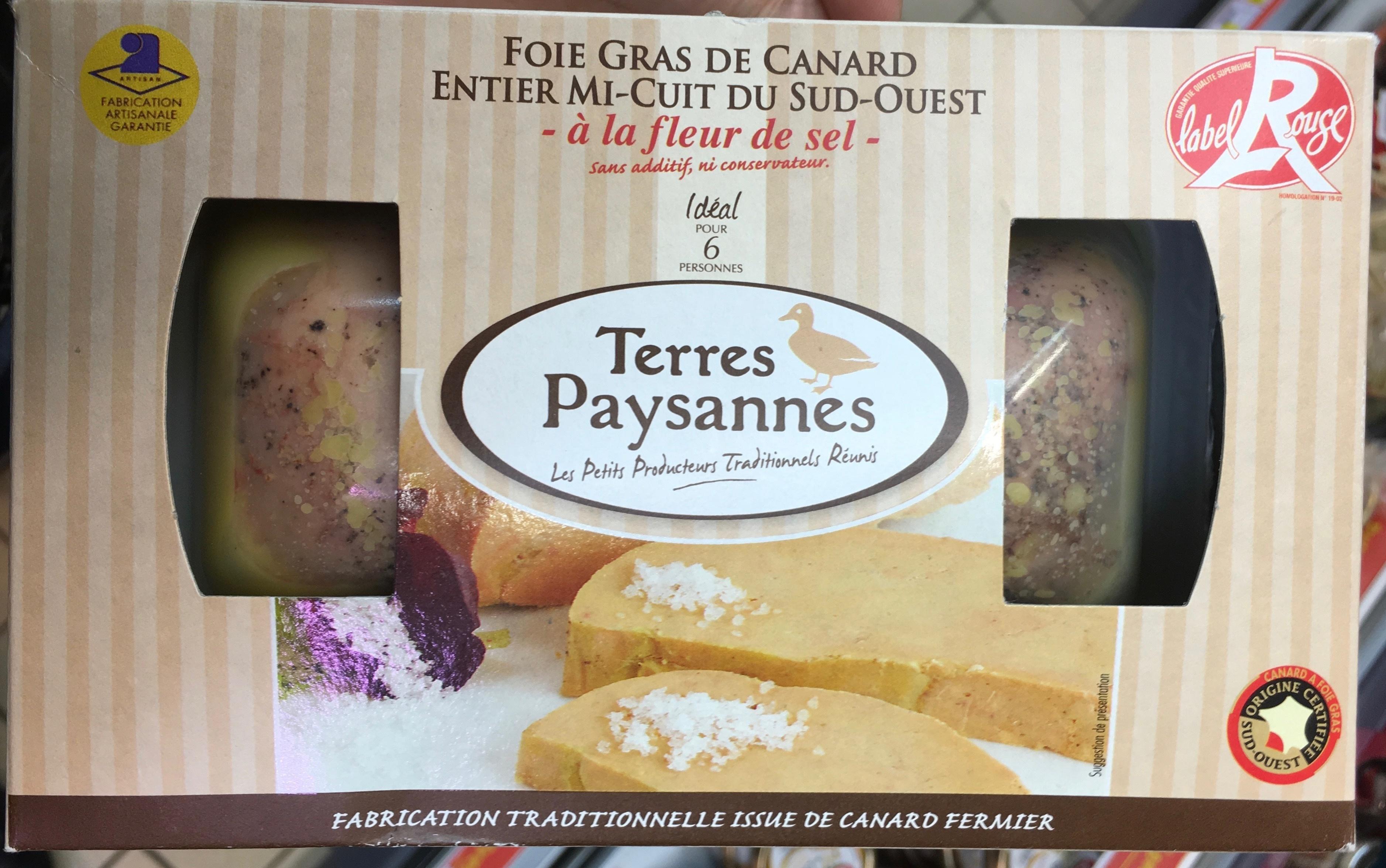Foie Gras de Canard entier mi-cuit du Sud-Ouest à la fleur de sel - Product