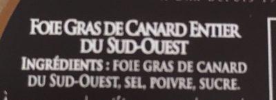 Foie gras de canard entier du Sud-Ouest - Ingredients