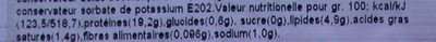 Sardines marinées au basilic - Voedingswaarden - fr