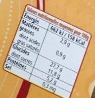 6 Crêpes Fraîches de Froment - Voedingswaarden