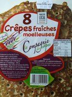 8 Crêpes fraîches moelleuses - Produit - fr