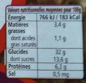 8 Crêpes fraîches moelleuses - Informations nutritionnelles - fr