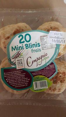 Minis blinis frais au sarrasin x20 100g - Product