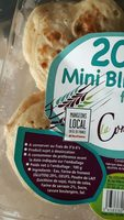 Minis blinis frais au sarrasin x20 100g - Ingredients