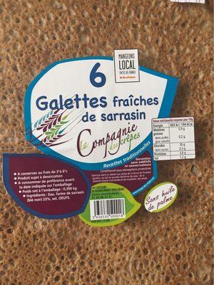 6 Galettes fraîches de sarrasin - Produit - fr