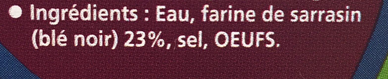 6 Galettes fraîches de sarrasin - Ingrédients - fr