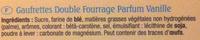 Les Amusantes parfum Vanille - Ingrédients - fr