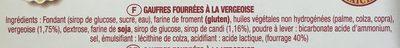 Blond Gaufr Les Moelleusessachet - Ingrediënten