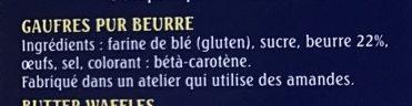 Les Gaufres de Bergues - Ingredients - fr