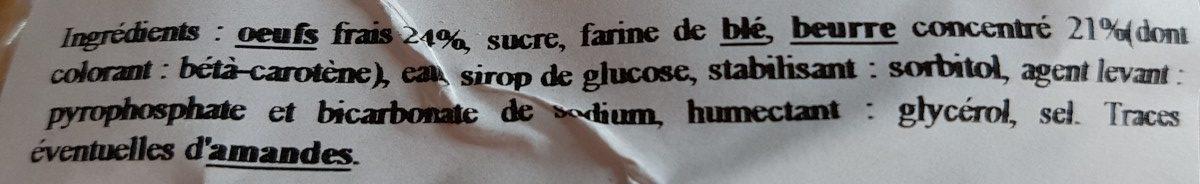 Madeleines pur beurre - Ingrédients - fr
