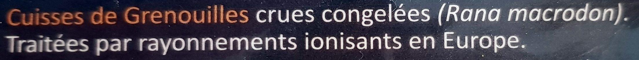 Cuisses de Grenouilles Surgelées - Ingrédients - fr