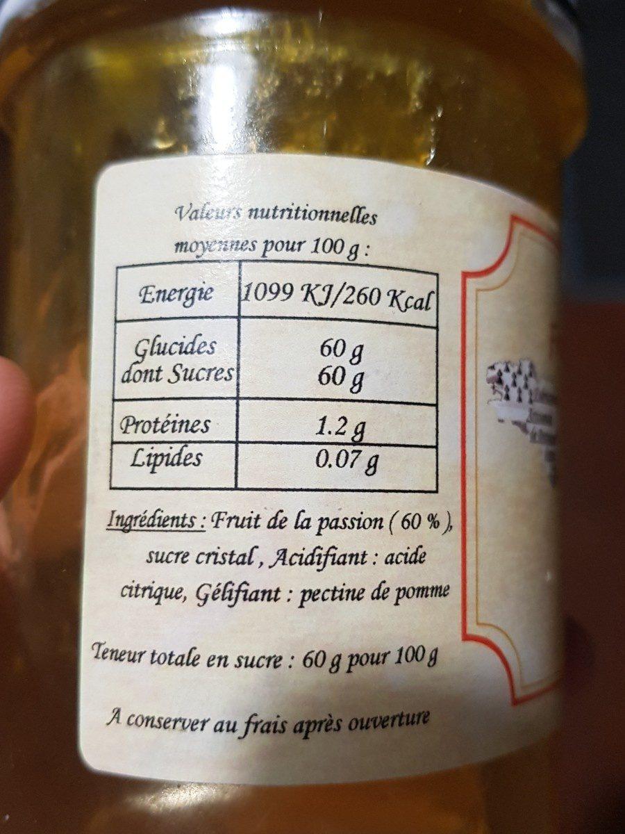 Confiture de Fruit de la passion - Ingrediënten - fr