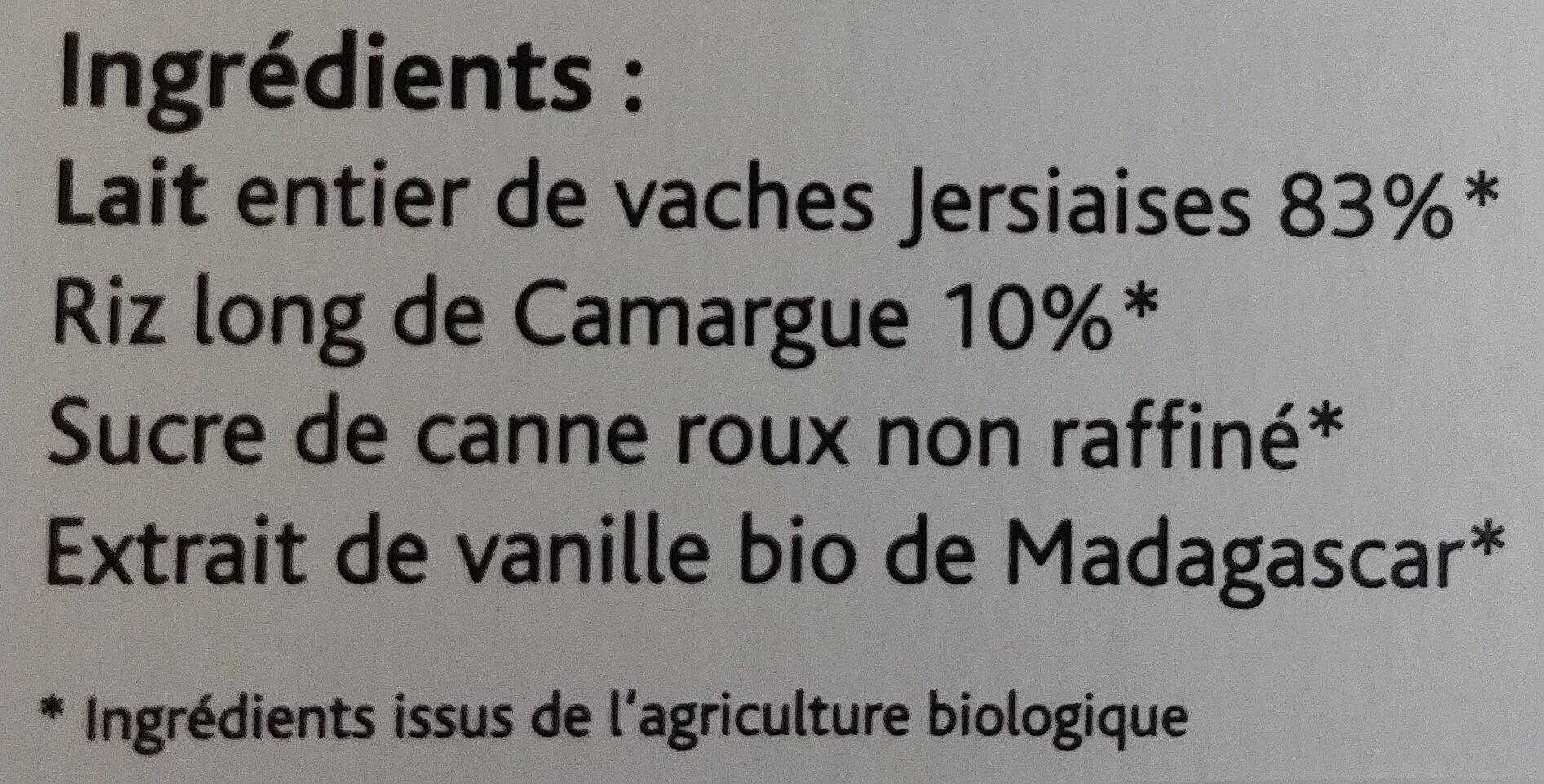 Riz au lait tradition - Ingrediënten - fr