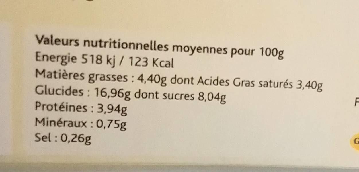 Riz au lait tradition - Voedingswaarden - fr