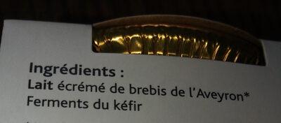 Kefir de brebris - Ingrédients - fr